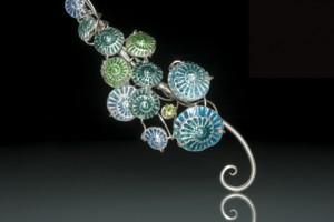 Blue & Green enamel detail