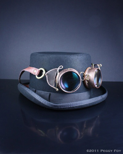 Cool Steampunk Goggles on a Tophat