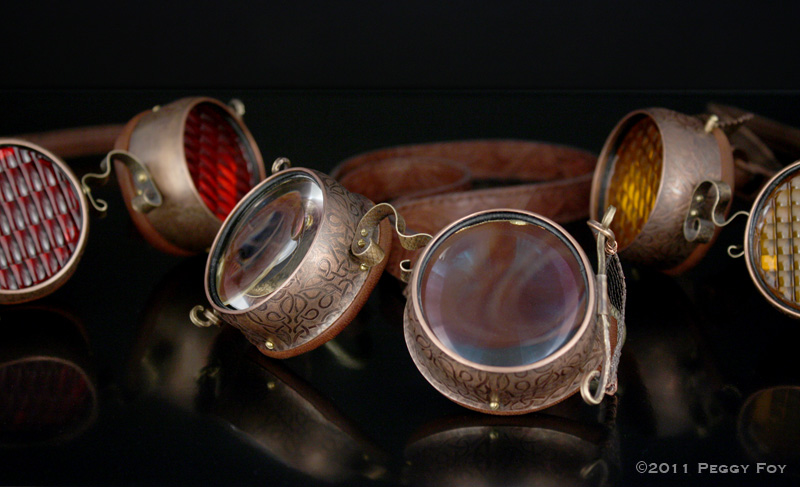 Photos of Steampunk Goggles.