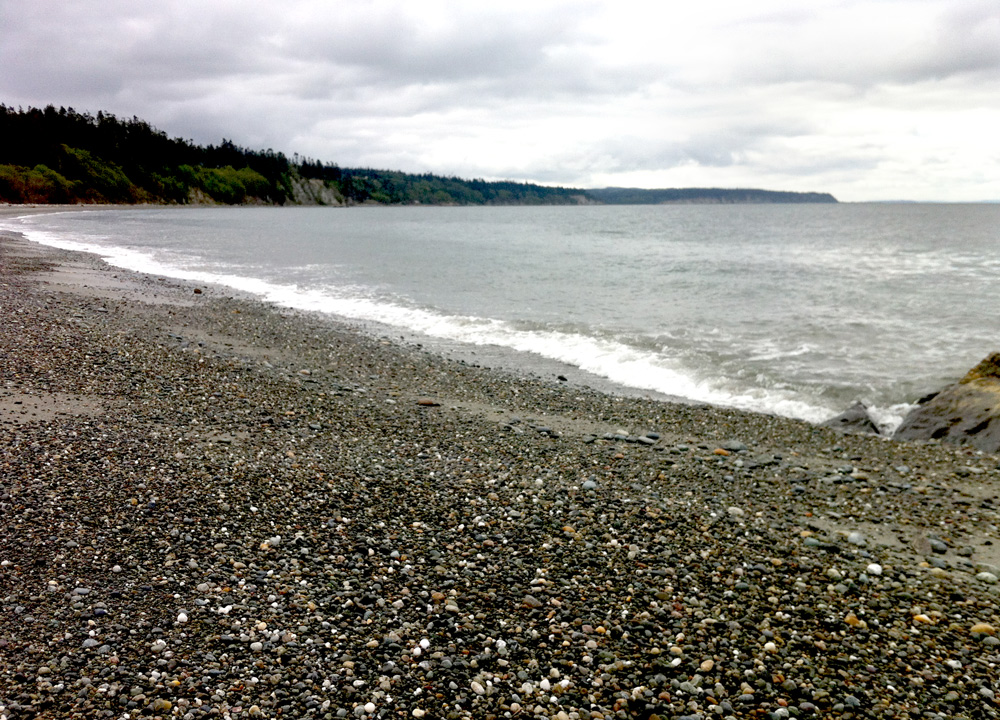 The beach at Whidbey Island