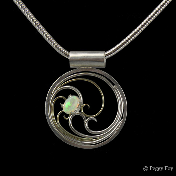 Opal pendant by Peggy Foy