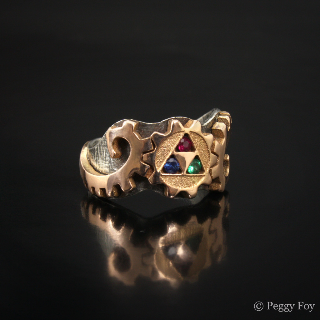 Steampunk Triforce Ring